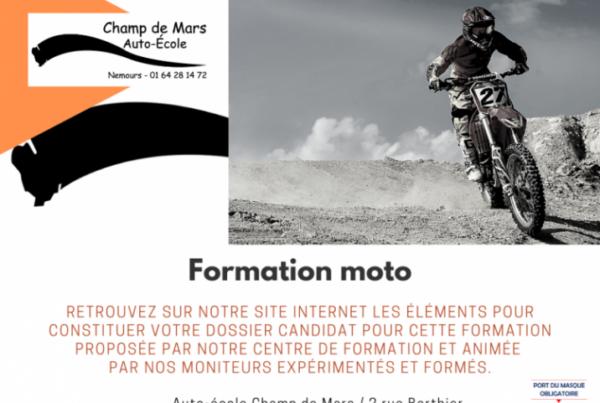 Permis moto Nemours